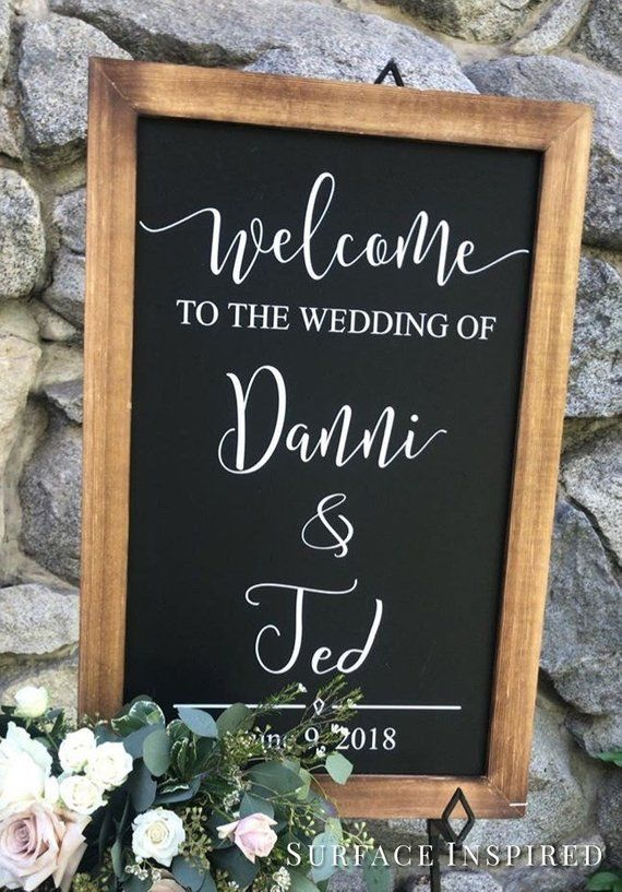 Wedding Decor Sign Welcome Decal Chalkboard Decals Welcome To The