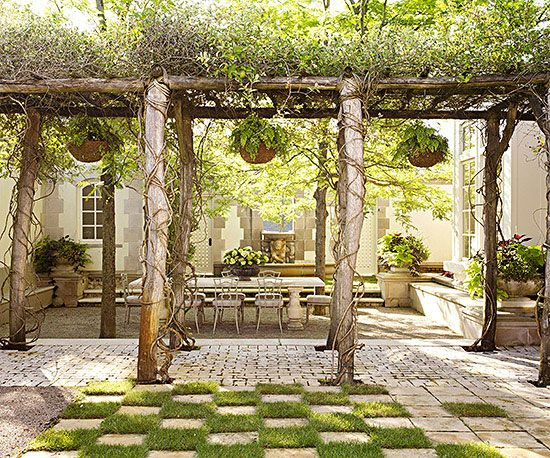 Backyard Design Ideas Large Backyard Landscaping Pergola Rustic Pergola