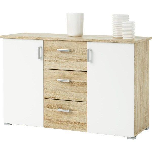 sideboard swift sonoma eiche nb 124 x 78 | möbel - Küchen Unterschrank Poco