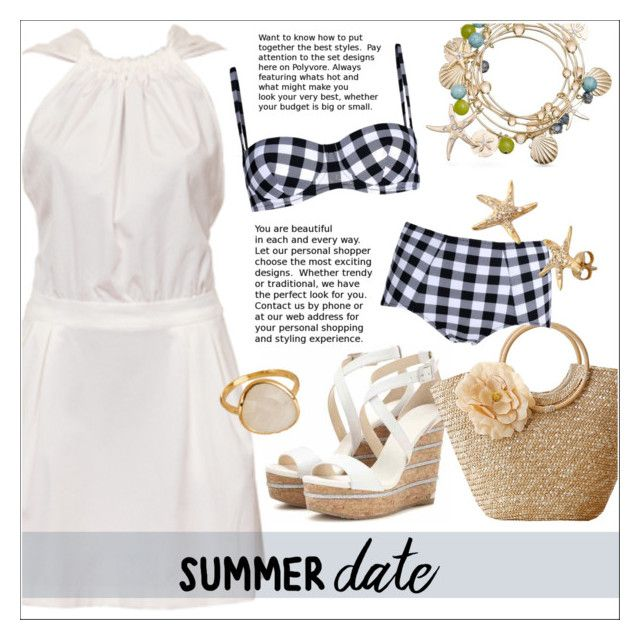 """""""Summer Date: The Beach"""" by ceci-alva ❤ liked on Polyvore featuring Jimmy Choo, Dolce&Gabbana and Effy Jewelry"""