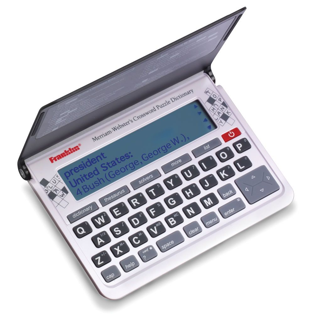The Advanced Electronic Crossword Puzzle Dictionary Hammacher