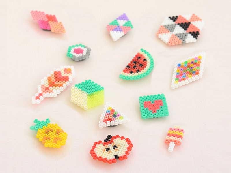 tutos diy les aimants en perles hama mini miyuki et bijoux in 2018 pinterest perler. Black Bedroom Furniture Sets. Home Design Ideas
