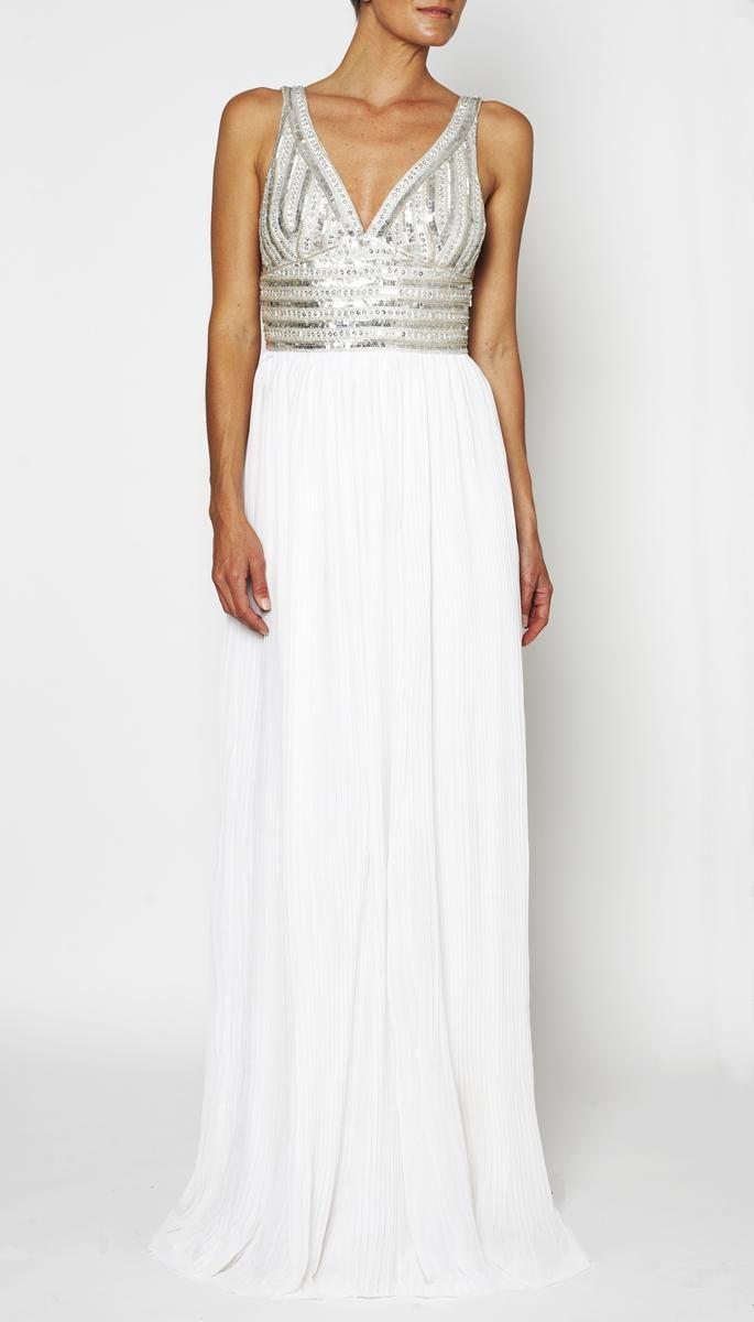White rg kaitlin gown clothing rachel gilbert