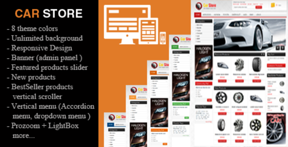 Accessories Car Magento 1 & 2 Theme | Website themes, Template and ...
