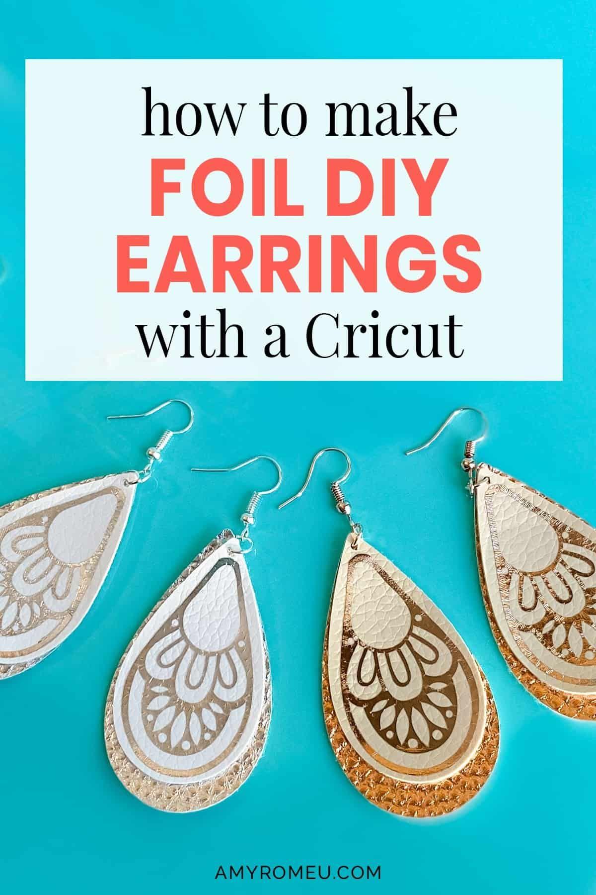 Pin on Cricut Earrings