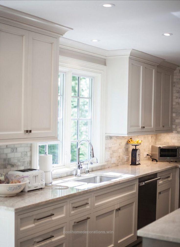 Awesome 28 Gorgeous Kitchen Backsplash with White Cabinets ...