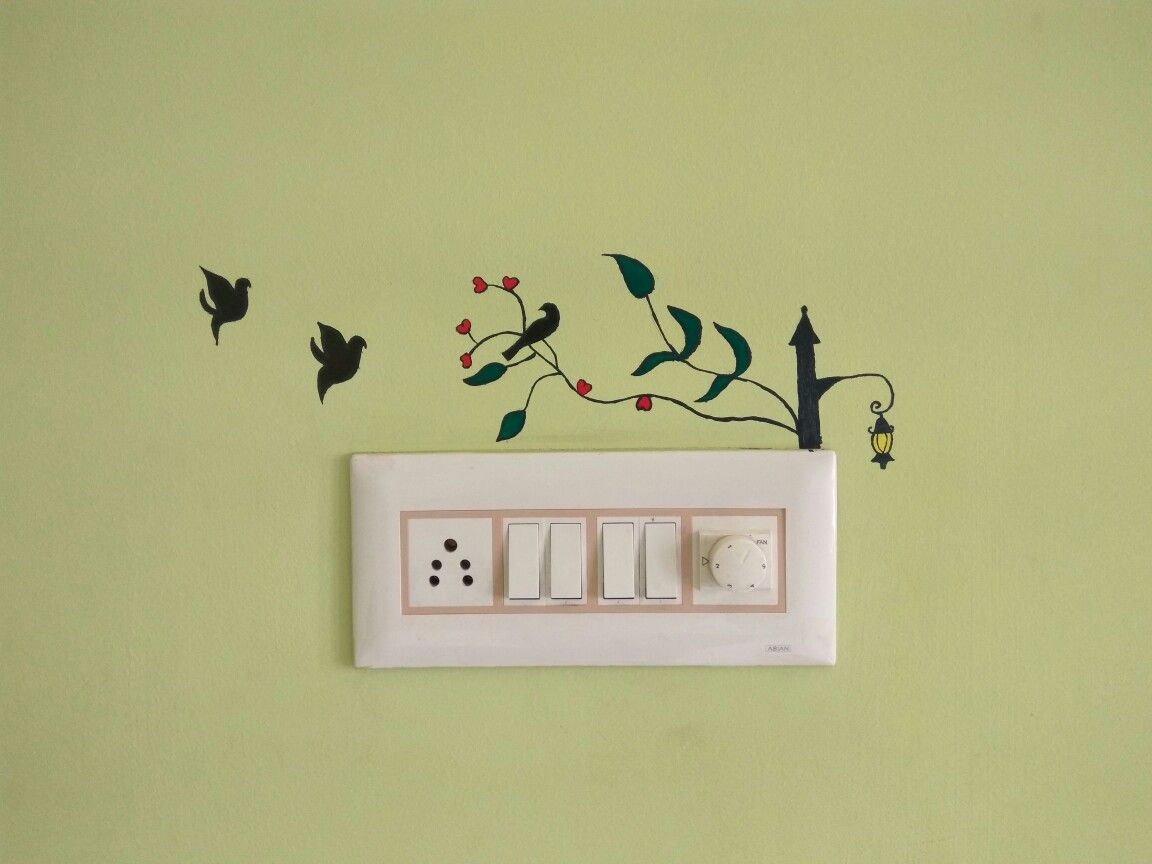 Wall painting on switchboard | Lucky | Pinterest | Wall sticker and ...