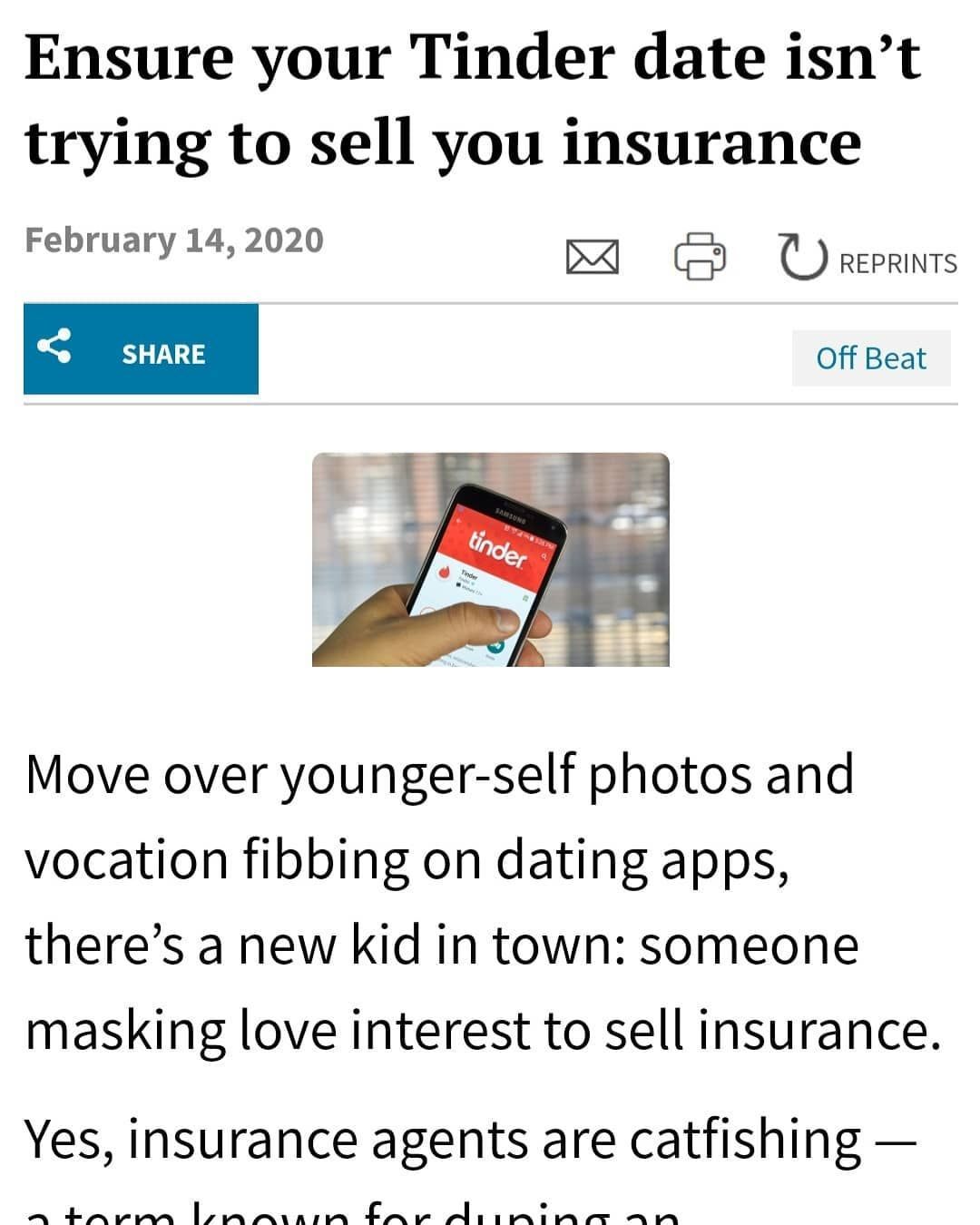 Found this interesting article on how insurance agents
