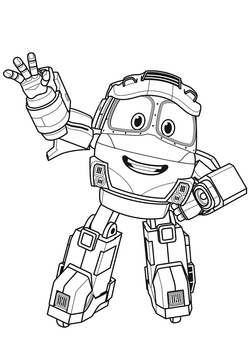 Friendly Kay High Quality Free Coloring From The Category Robot Trains More Printable P Train Coloring Pages Dinosaur Coloring Pages Cartoon Coloring Pages