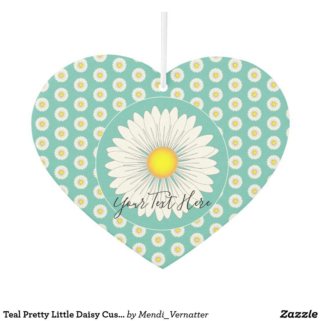 Teal Pretty Little Daisy Custom Text and Photo Air