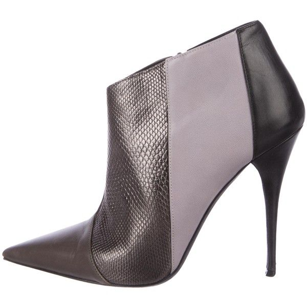 under $60 cheap online visit new sale online Narciso Rodriguez Leather Pointed-Toe Booties sast sale online latest 9qgu1K9mI