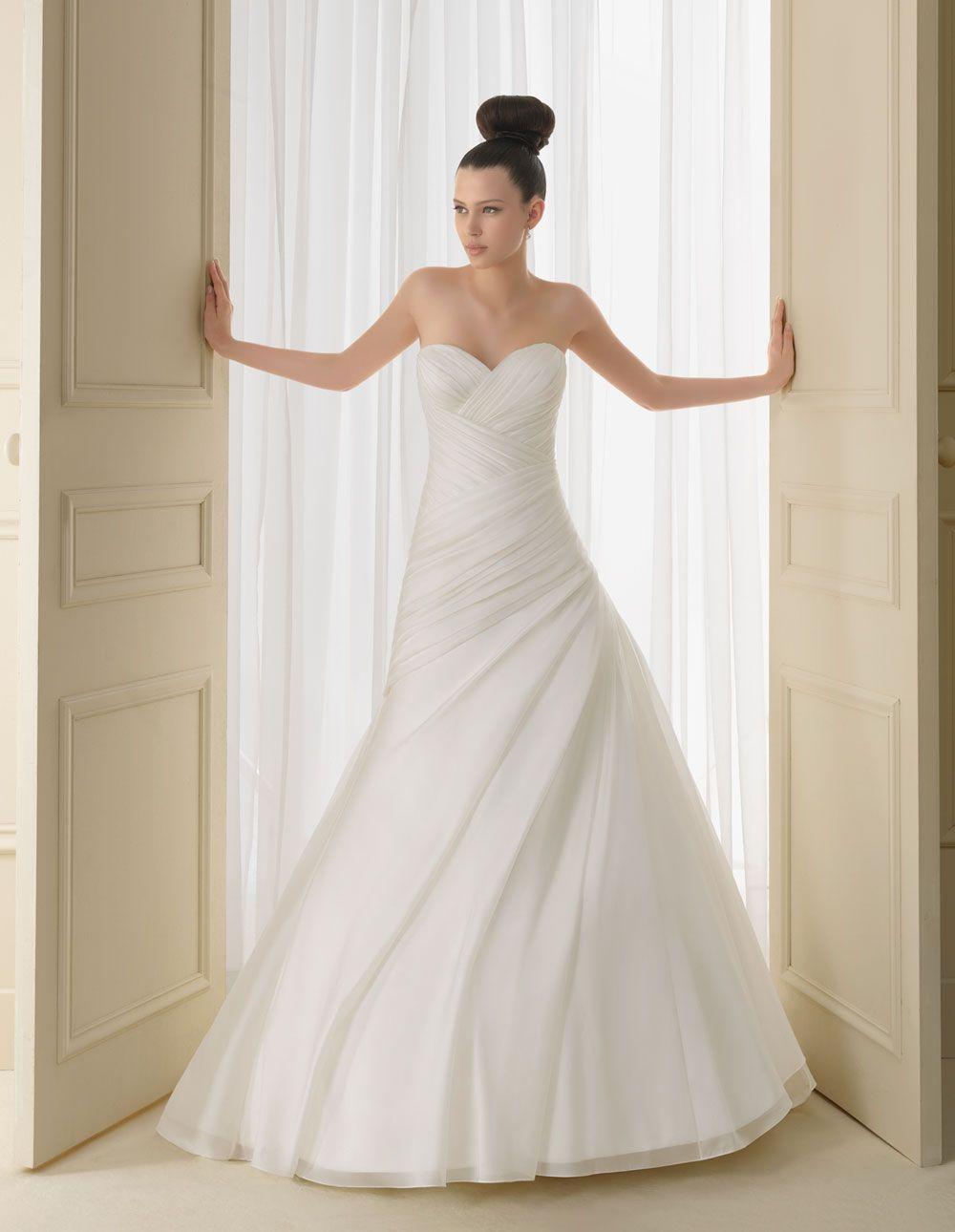 Silhouette wedding dresses simple bridal  A classic silhouette   Isla  LUNA NOVIAS YOUR DRESS without