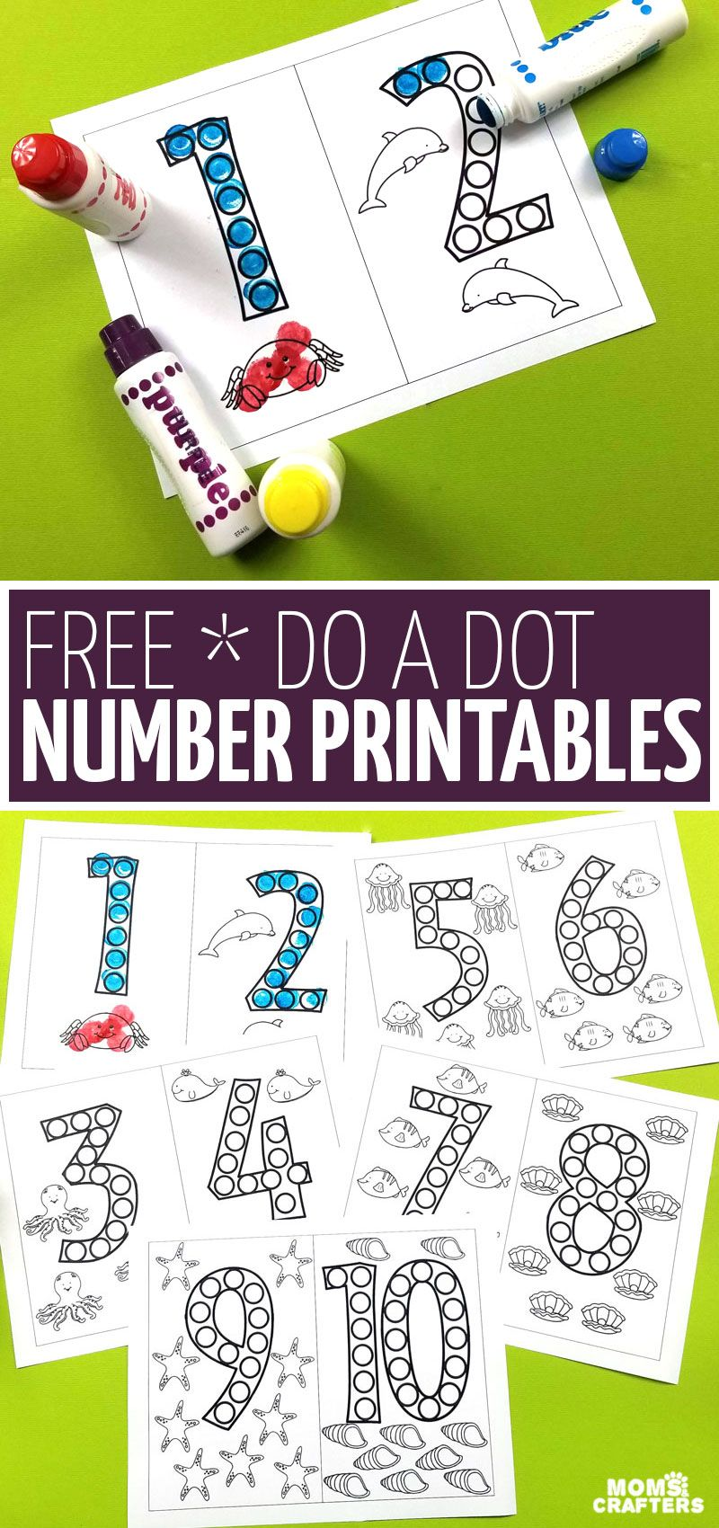 Do A Dot Number Printables Free Printable Moms And Crafters Numbers Preschool Do A Dot Kindergarten Prep [ 1700 x 800 Pixel ]