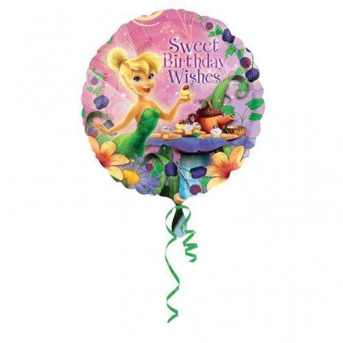 "Tinkerbell 18/"" Disney Princess Fairy Happy Birthday Foil Mylar Party Balloon"