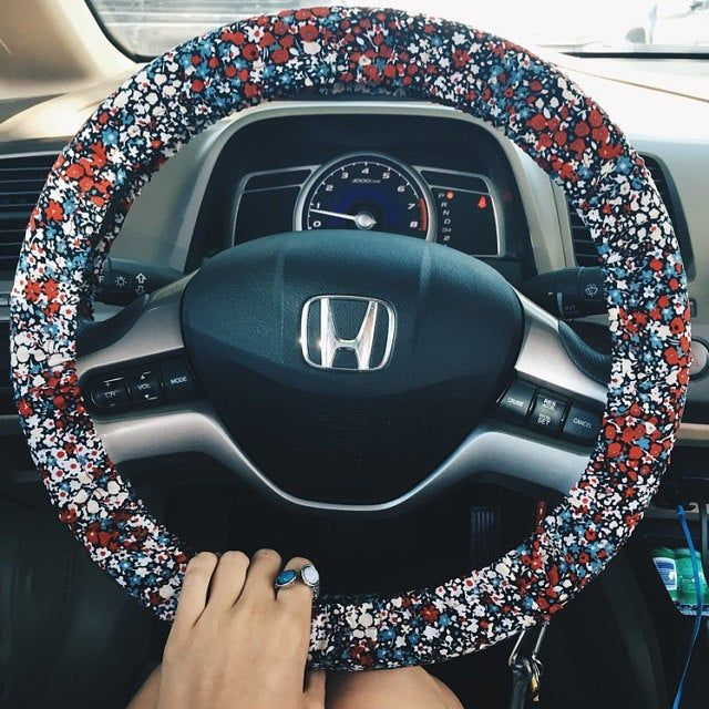 steering wheel cover – Men's and women's car accessory, steer cover, automobile wheel cover, car decor – car gift idea for her, for him