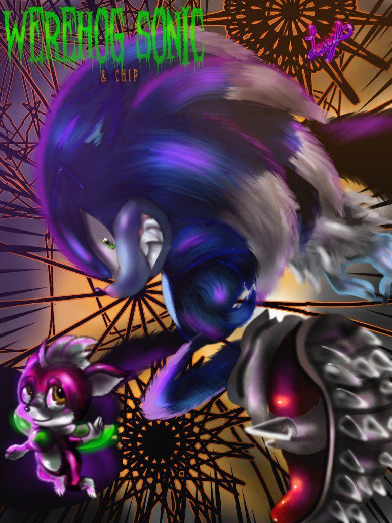 Werehog Sonic and Chip by sonamy94fan
