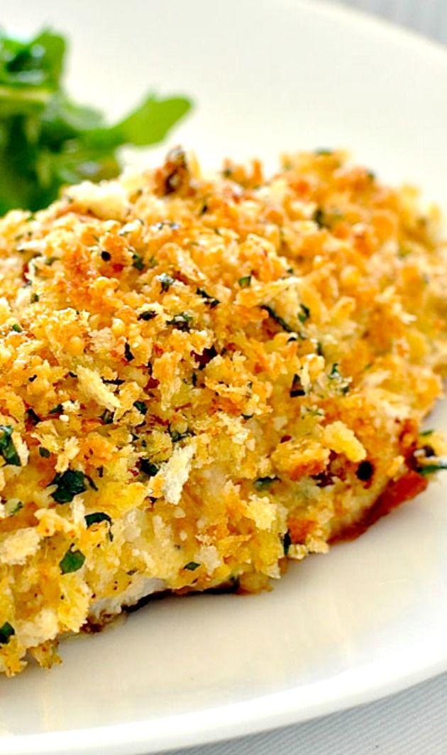 Healthy Parmesan Garlic Crumbed Fish Recipe Parmesan