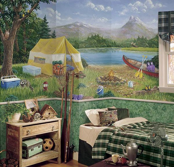 Camping Theme Room Boys Room Decor Camping Room Kids