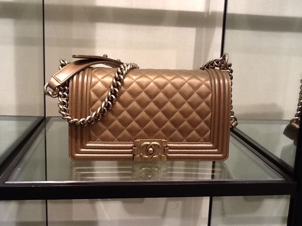 5d3f13597ce313 Chanel Bronze Quilted Boy Bag Small Pre Fall 2012 | Chanel Le Boy ...