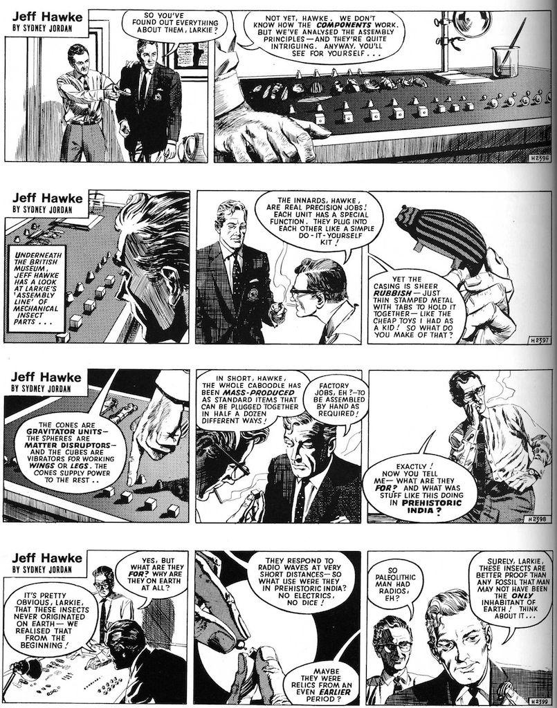 Jeff Hawke strip - The Immortal Toys