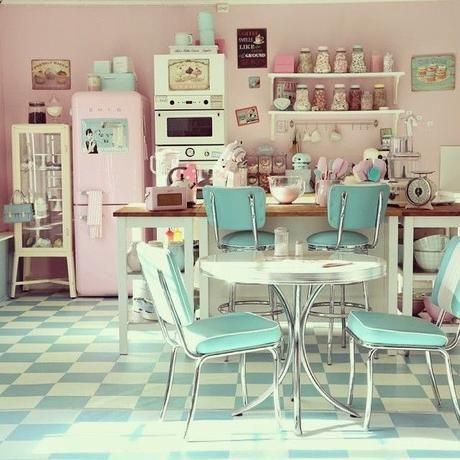 MCD ] Une cuisine vintage et pastel ? Mon rêve | Cuisine vintage ...