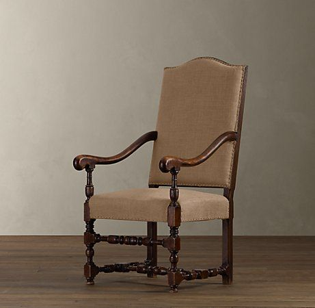 Restoration Hardware - 18th C. French Burlap Chair...look ...