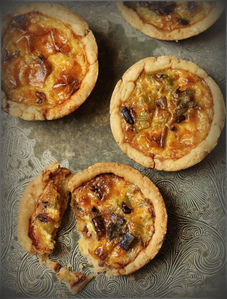 blue cheese + walnut tartlets.