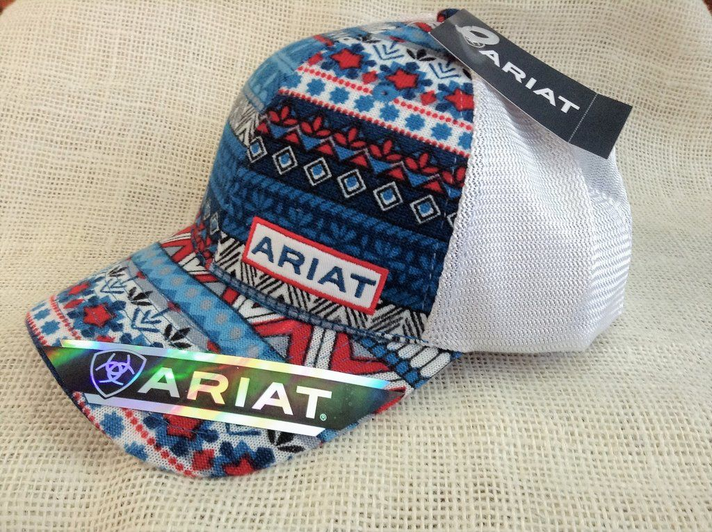 547726573 Ariat Ladies Red/White/Blue Pattern Hat | Outfits | Country style ...