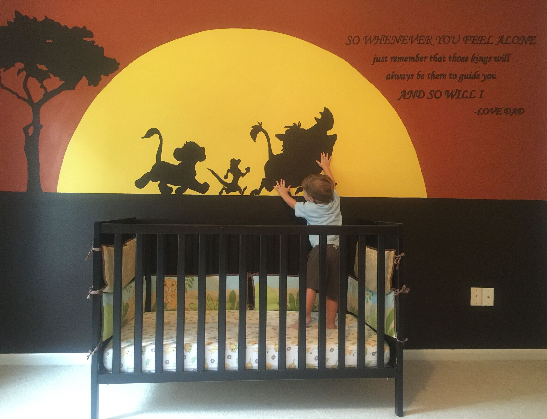 The mural I painted on Gunnars wall with the lion king quote ...