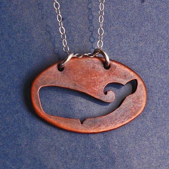 Copper Whale Cutout Necklace