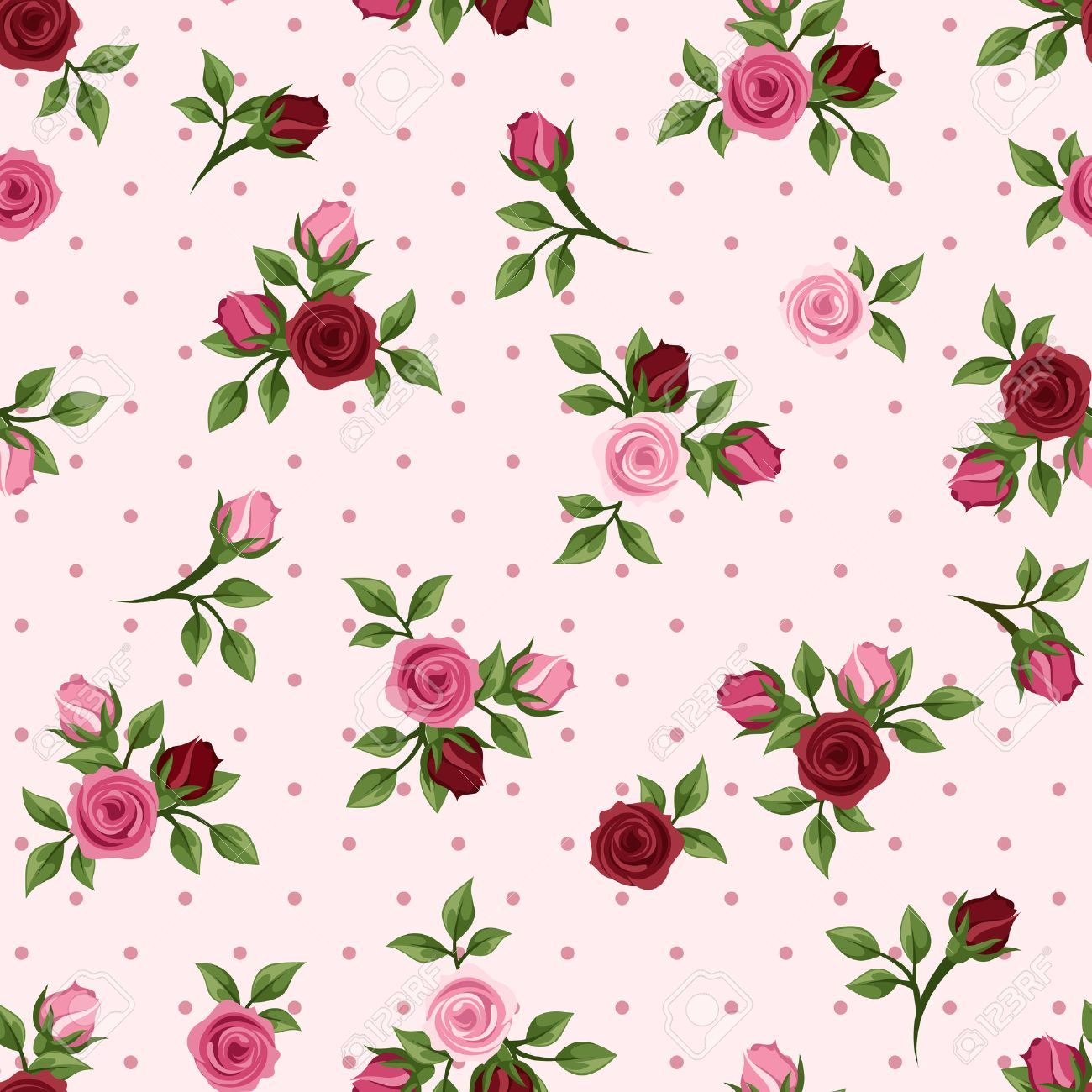 Vintage Seamless Pattern With Red And Pink Roses Vector Illustration Spon Pattern Red Vintage In 2020 Red And Pink Roses Pink Roses Background Aesthetic Roses