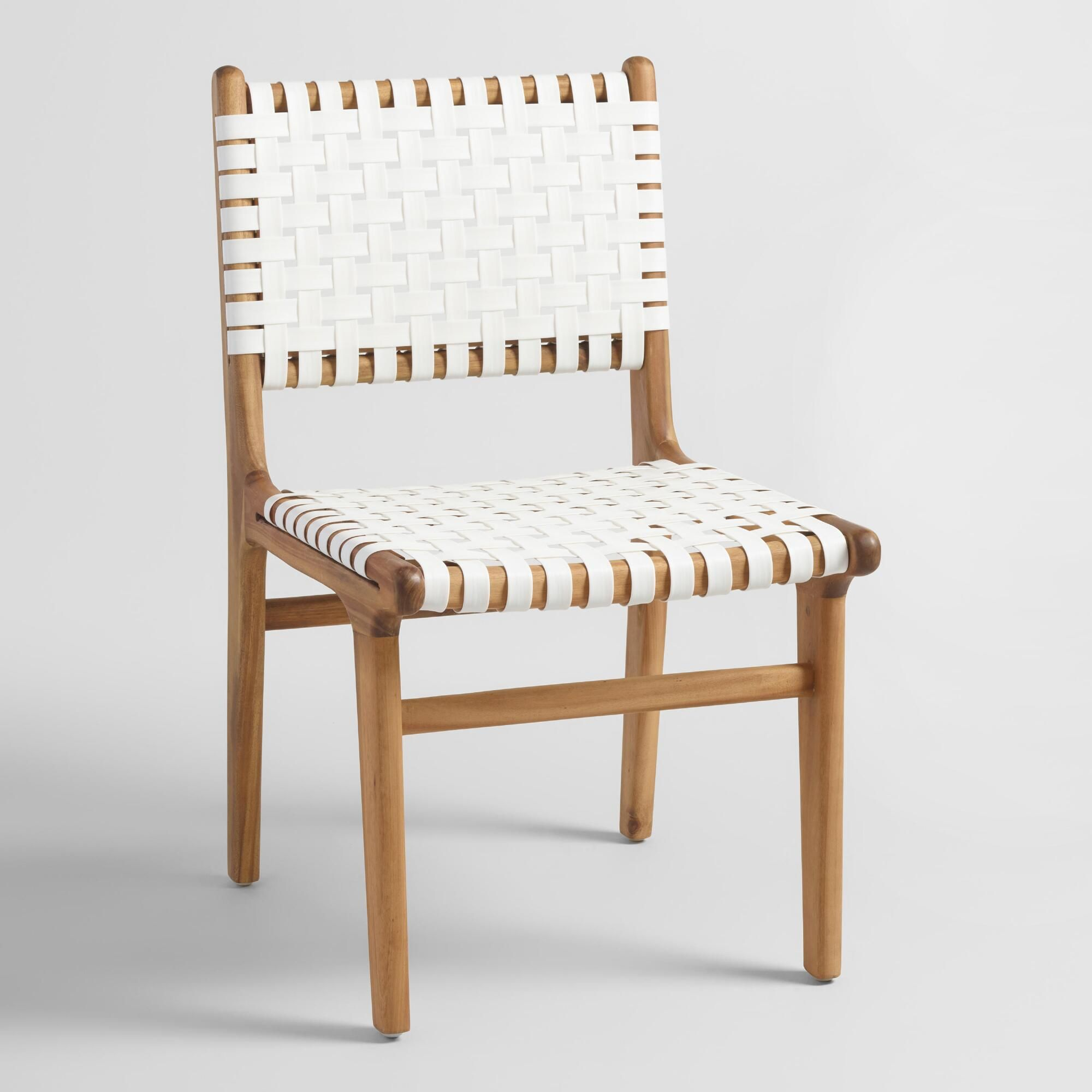 White Strap Girona Dining Chairs Set Of 2 Furniture And