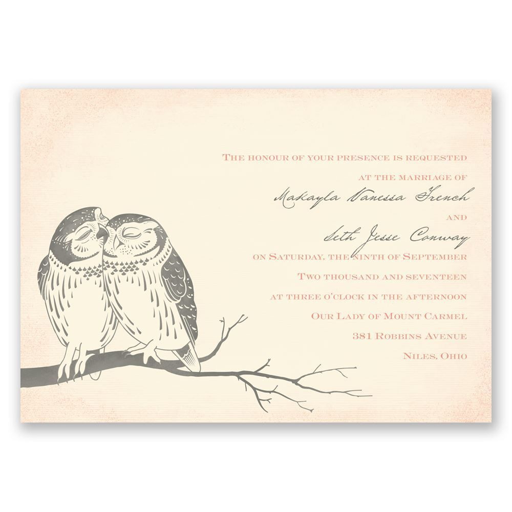 Owl Be Yours Invitation  Invitations by Dawn  Invitations by