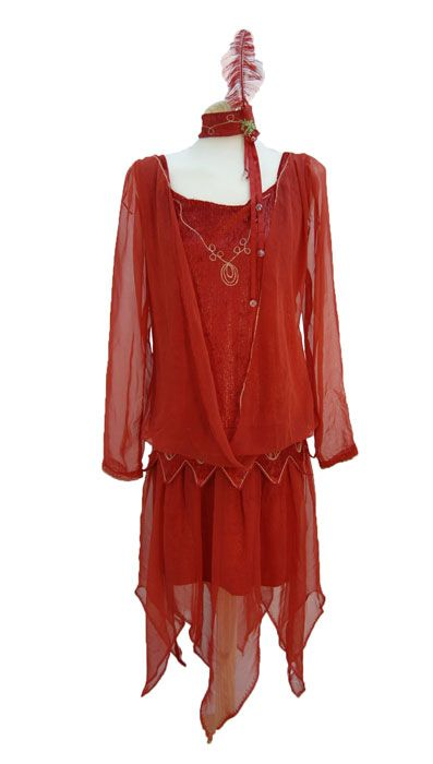 Red 1920 S Dress