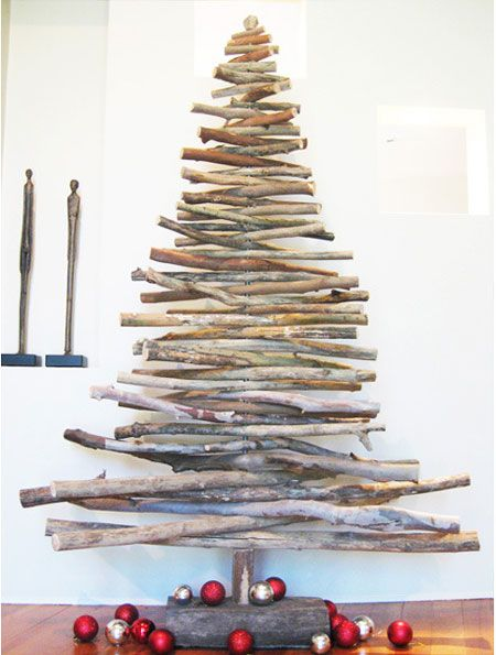 Do You Always Want To Be Unique And Different From All The Others If The Answer Is Yes Recycled Christmas Tree Stick Christmas Tree Creative Christmas Trees