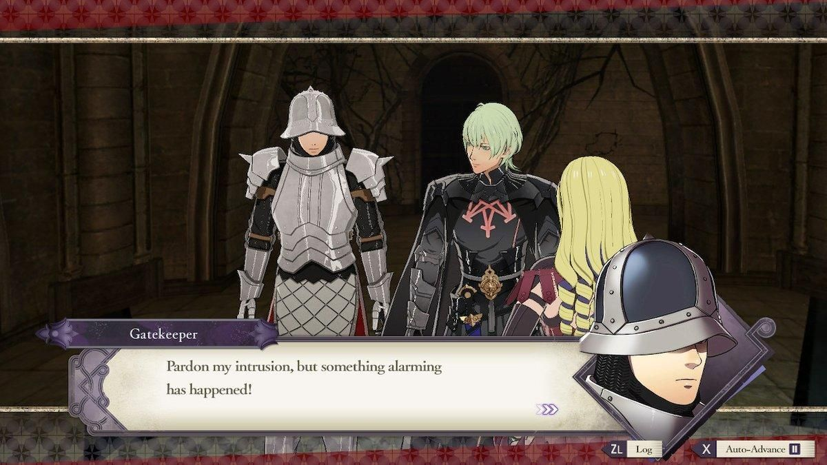 Gatekeeper Makes A Guest Appearance In Byleth And Constance S S Support Fire Emblem Three Houses Fire Emblem Emblems Favorite Character