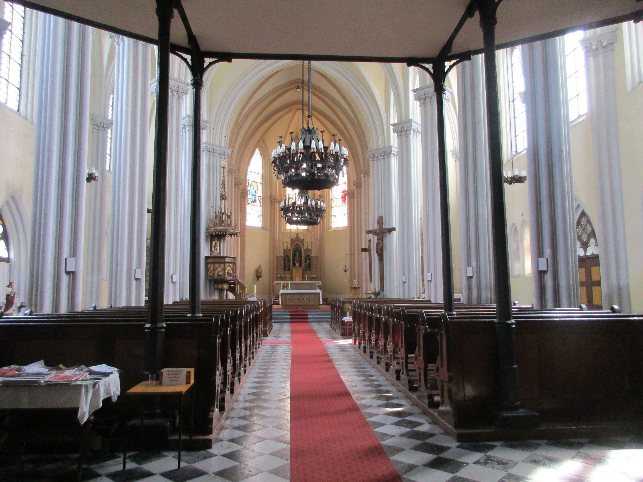 V kostele sv. Vavřince  v Chrastavě - Liberecko