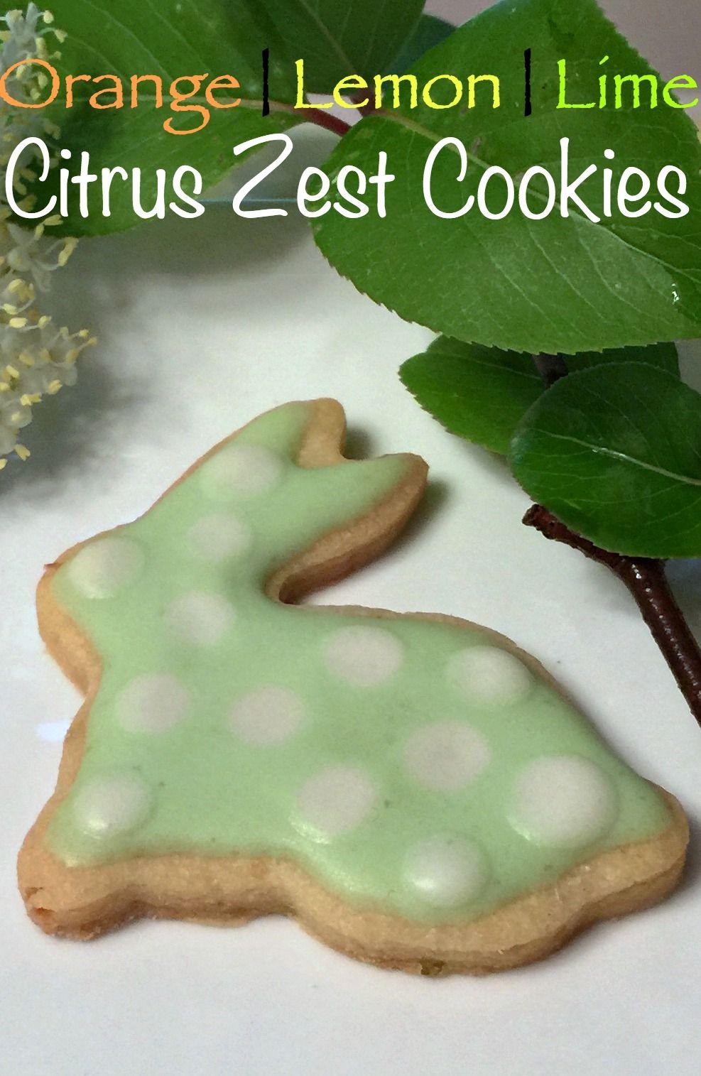 Citrus Zest Cookies - a hint of orange lemon and lime