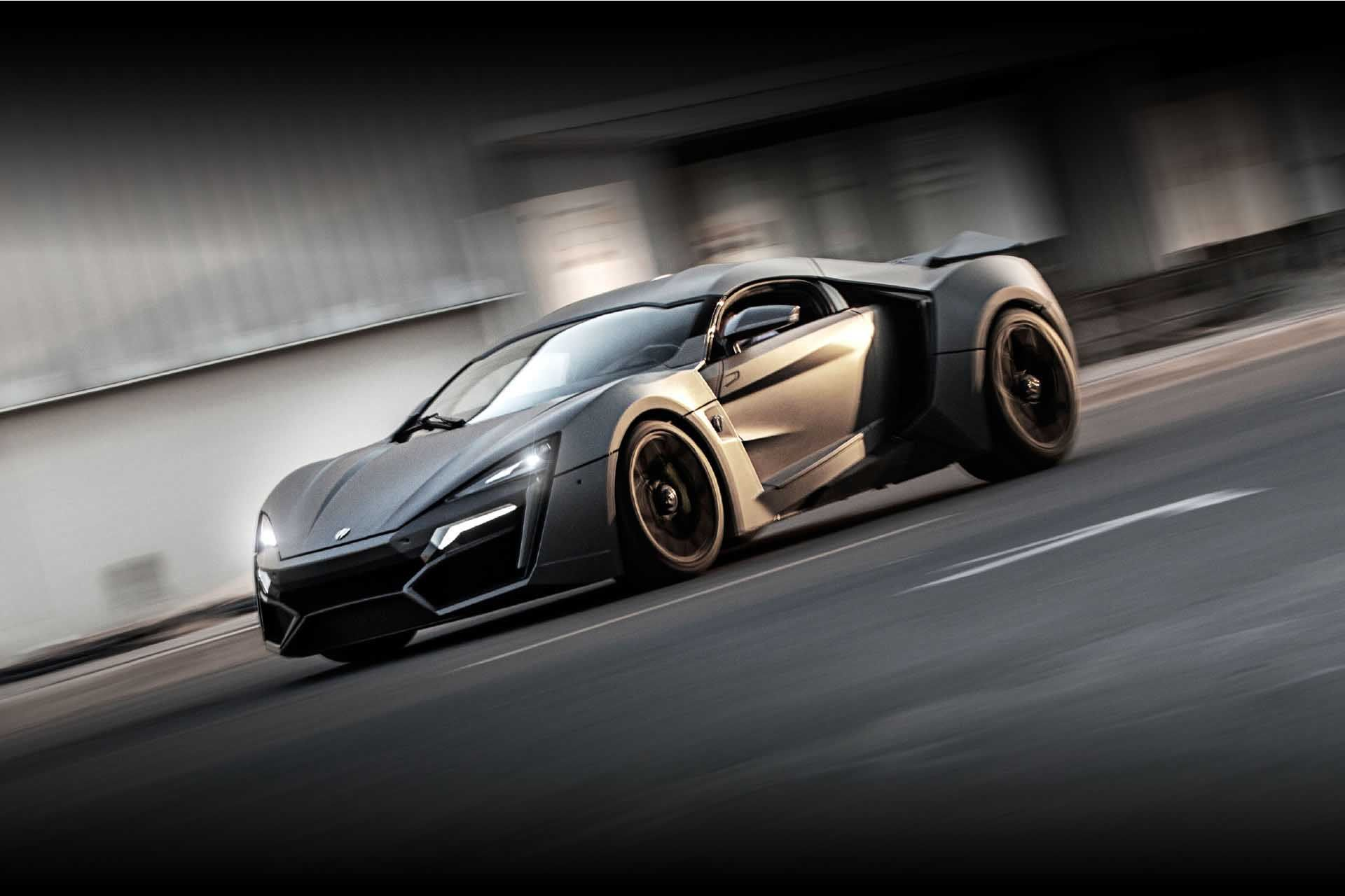 10 W Motors Lykan Hyper Sport Side Three Quarter View backgrounds