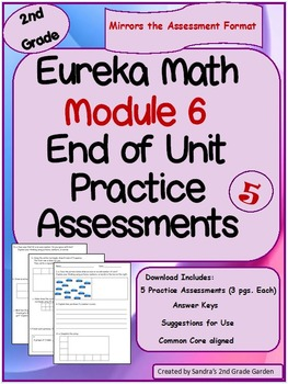 2nd Grade Eureka Math / Engage NY End Of Module 6 Assessment