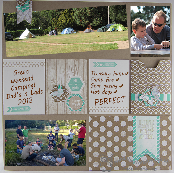 Project Life Style Scrapbook Layout Perfect Pennants Around The