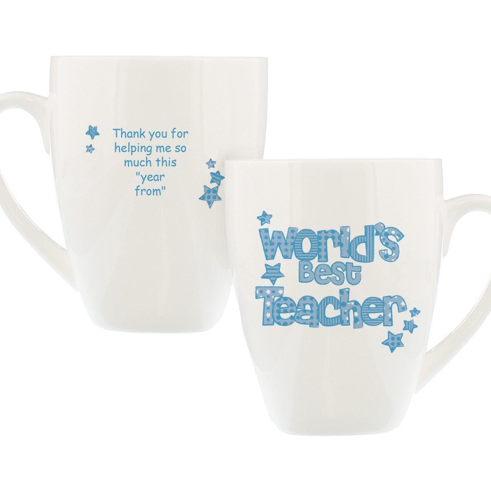 Blue World S Best Teacher Mug Best Teacher Teacher Graduation