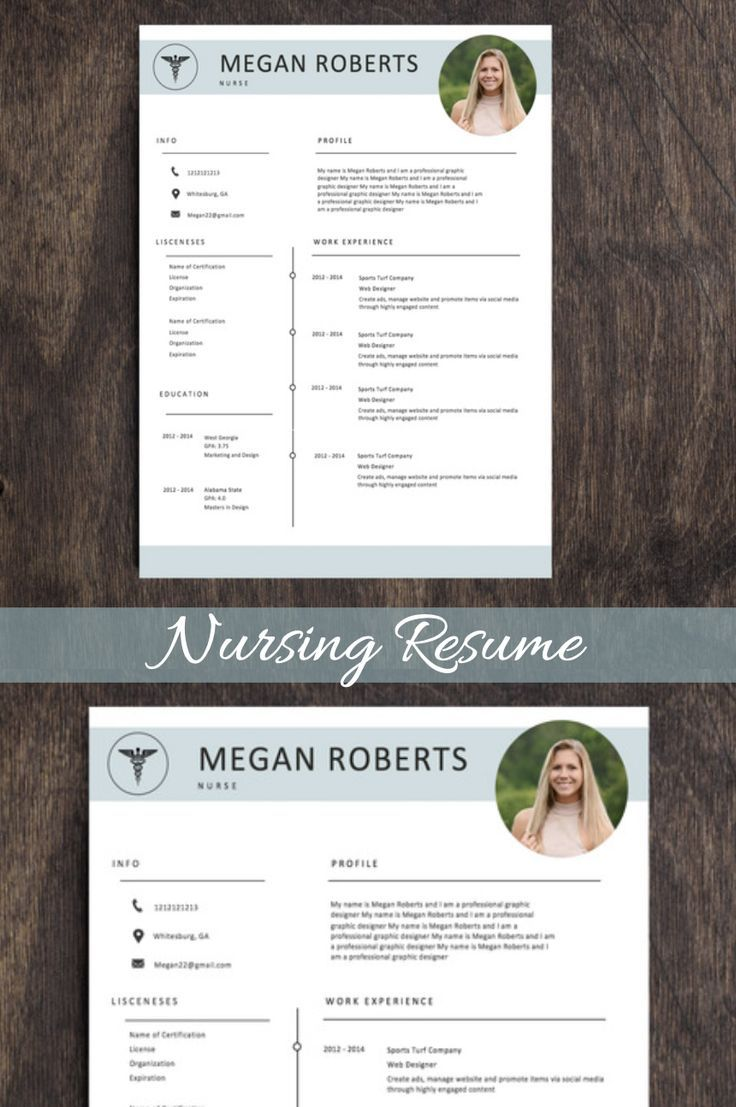 Medical resume template editable nurse resume template