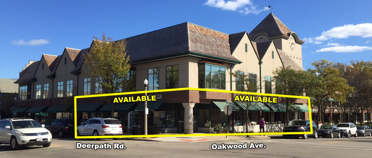 Prime corner space available for lease in lake forest il