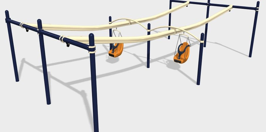 ZipKrooz® Assisted - Inclusive Playground Zip Line for ...
