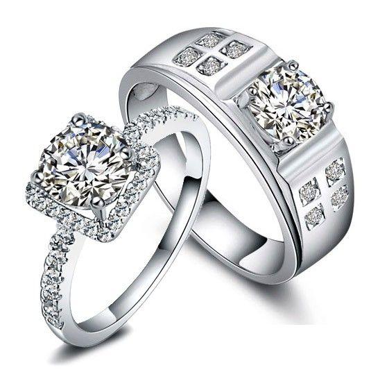 Engravable 2 Carats Synthetic Diamond Designers Engagement Gold