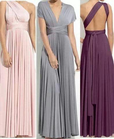 9a9fe438148 Bridesmaid Dress Full Length Infinity Dress Wrap Convertible Dress ...