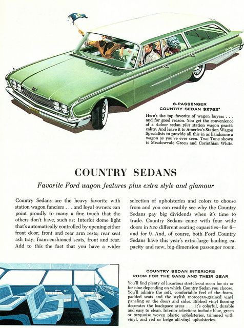 1960 Ford Country Sedan Station Wagon Station Wagon Car