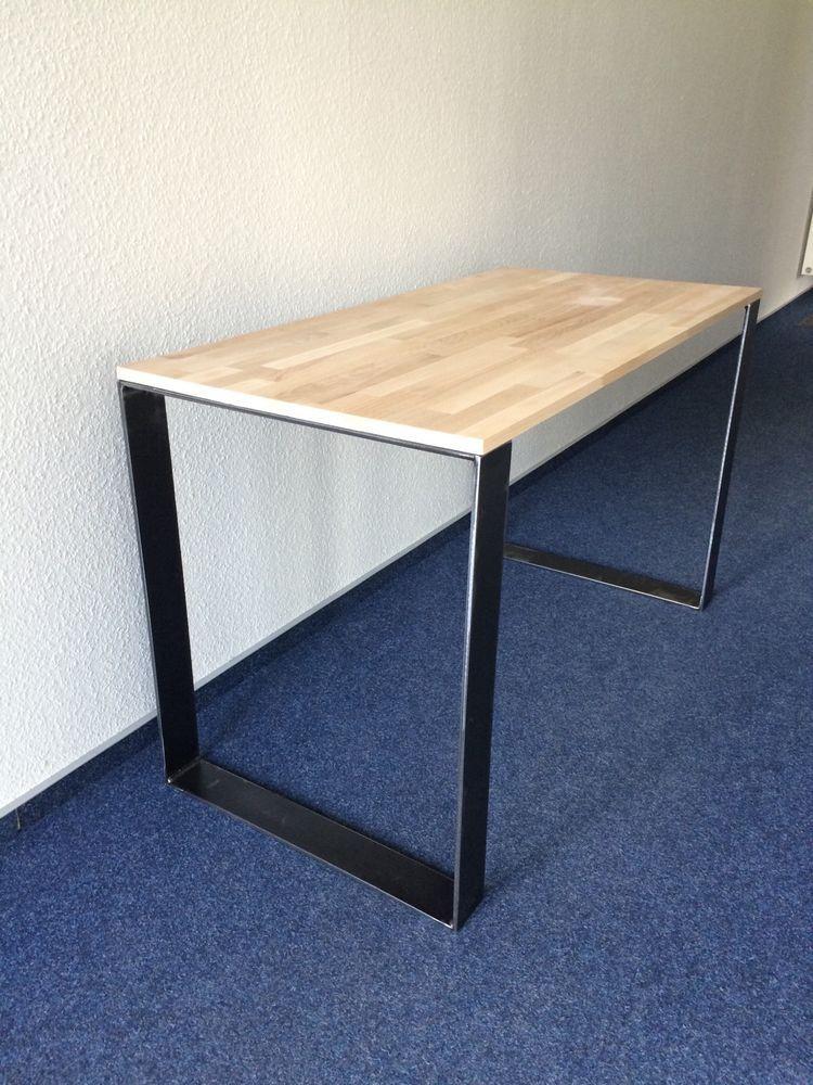 2er Set Tischbeine Stahl Design Tischkufen Stützfuss Tischgestell 80 ...
