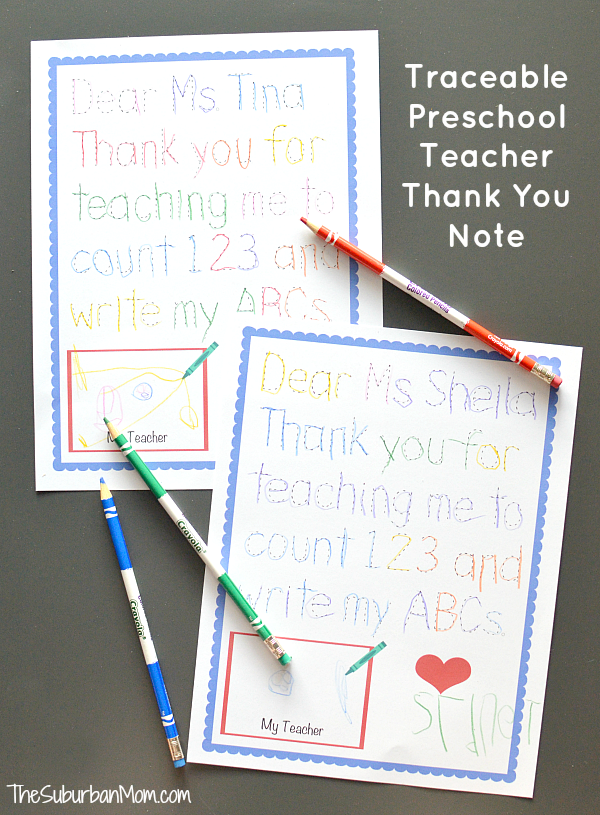 Traceable preschool teacher thank you note back to school traceable preschool teacher thank you note back to school pinterest teacher note and appreciation expocarfo Image collections